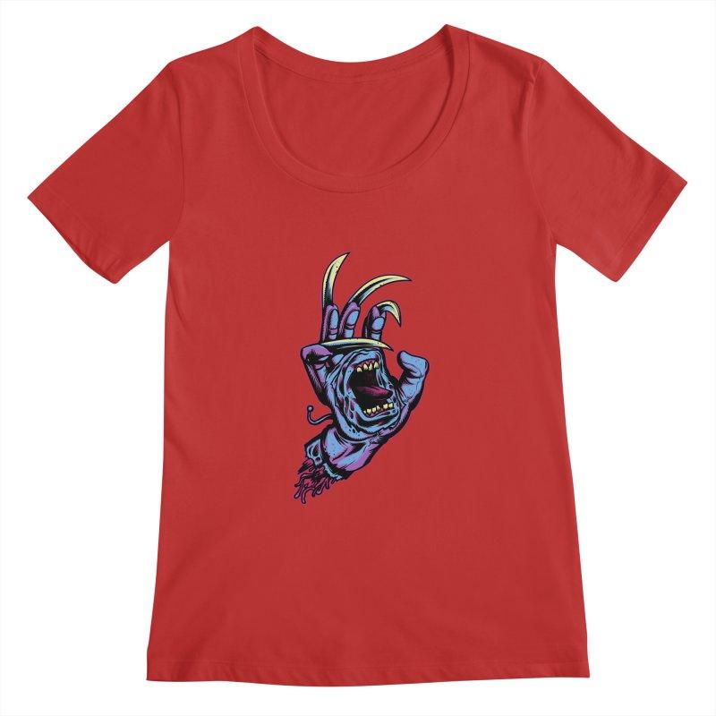 Slasher Hand Women's Scoopneck by ES427's Artist Shop