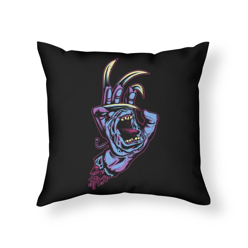 Slasher Hand Home Throw Pillow by ES427's Artist Shop