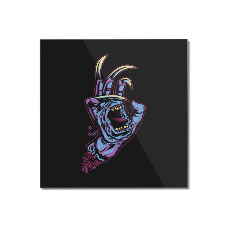 Slasher Hand Home Mounted Acrylic Print by ES427's Artist Shop