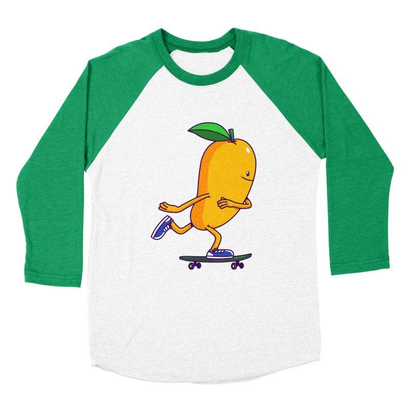 Skater Mango Women's Baseball Triblend T-Shirt by ES427's Artist Shop
