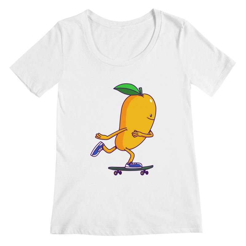 Skater Mango Women's Scoopneck by ES427's Artist Shop