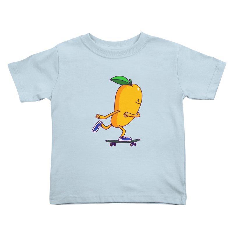 Skater Mango Kids Toddler T-Shirt by ES427's Artist Shop