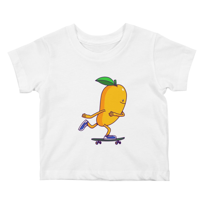 Skater Mango Kids Baby T-Shirt by ES427's Artist Shop