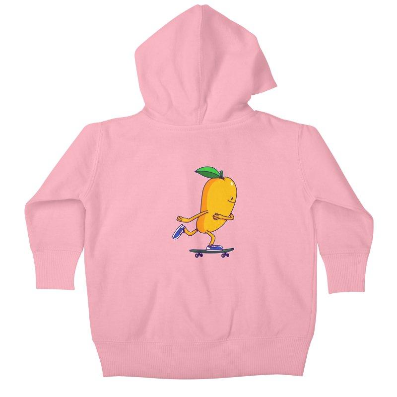 Skater Mango Kids Baby Zip-Up Hoody by ES427's Artist Shop