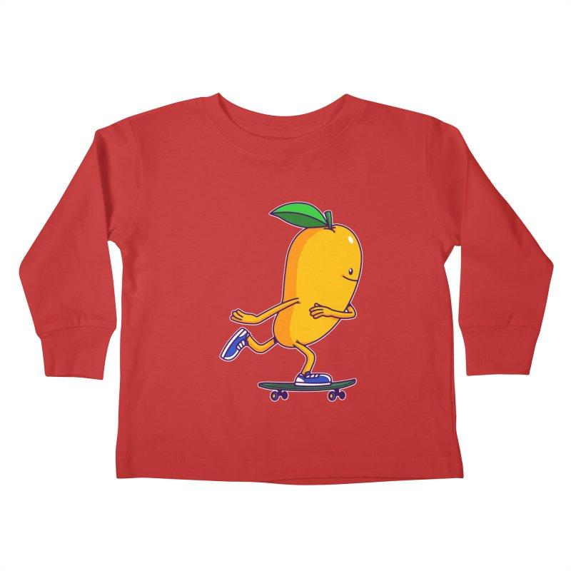 Skater Mango Kids Toddler Longsleeve T-Shirt by ES427's Artist Shop