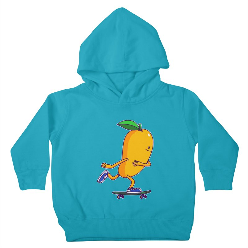 Skater Mango Kids Toddler Pullover Hoody by ES427's Artist Shop