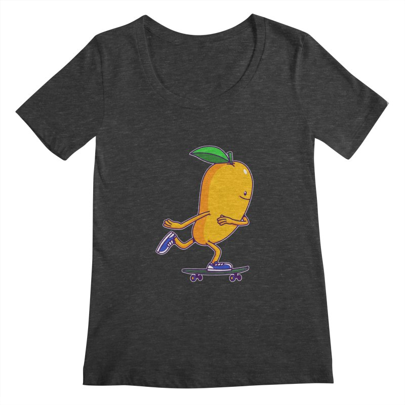 Skater Mango Women's Scoopneck by ES427's Artist Shop