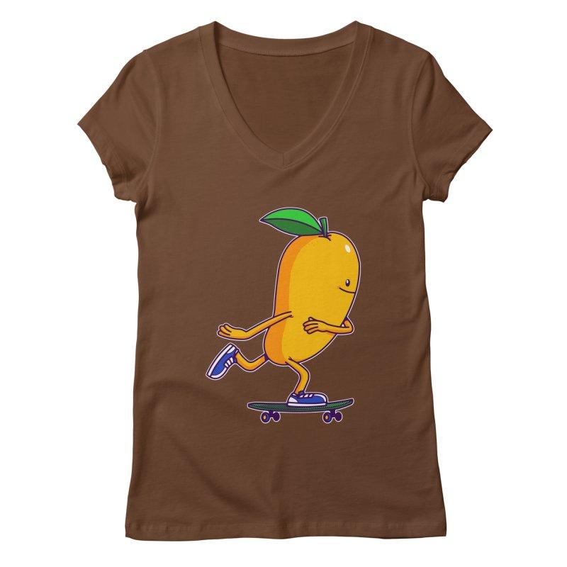 Skater Mango Women's V-Neck by ES427's Artist Shop