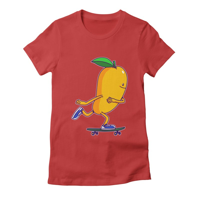 Skater Mango Women's Fitted T-Shirt by ES427's Artist Shop