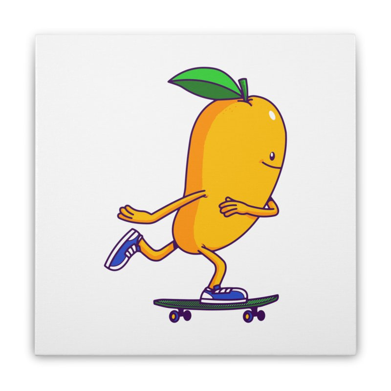 Skater Mango Home Stretched Canvas by ES427's Artist Shop
