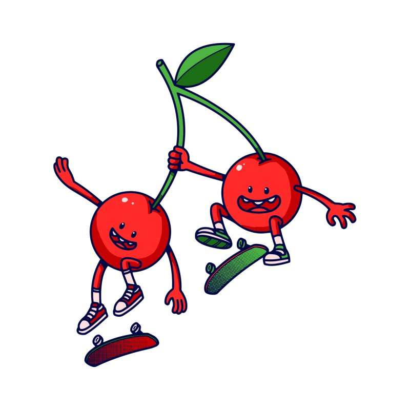 Skater Cherries by ES427's Artist Shop