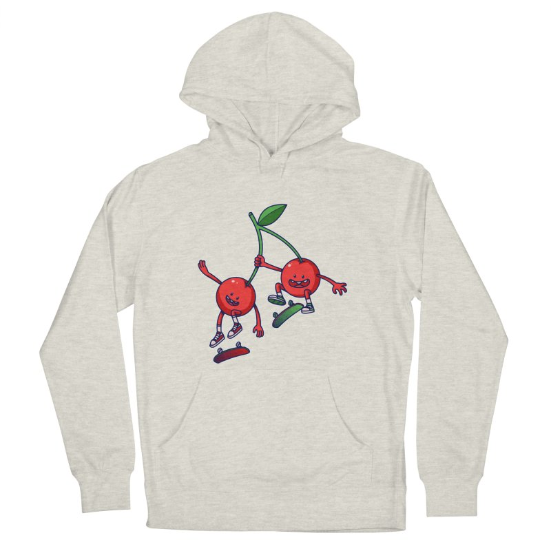 Skater Cherries Men's French Terry Pullover Hoody by ES427's Artist Shop
