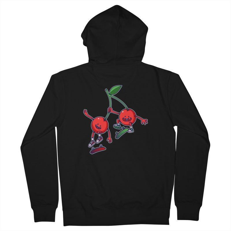Skater Cherries Men's Zip-Up Hoody by ES427's Artist Shop