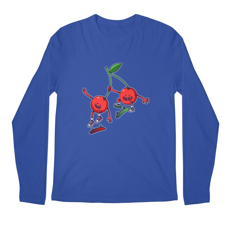 Skater Cherries Men's Longsleeve T-Shirt by ES427's Artist Shop