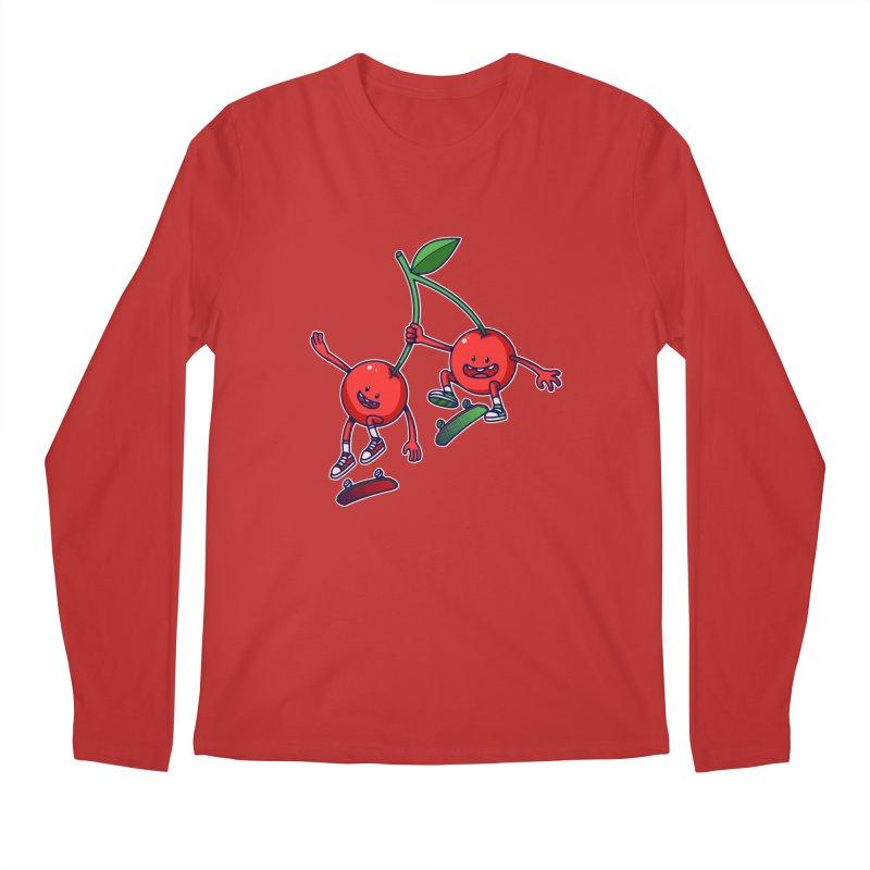 Skater Cherries Men's Longsleeve T-Shirt by ES427's Artist Shop