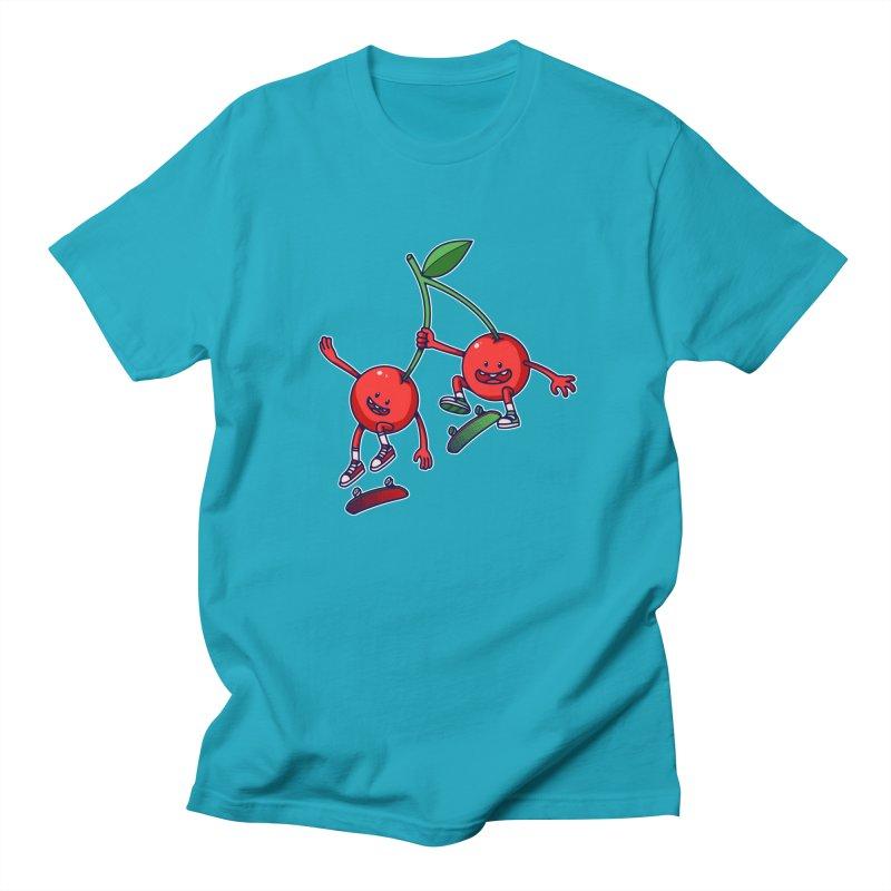 Skater Cherries Men's T-shirt by ES427's Artist Shop