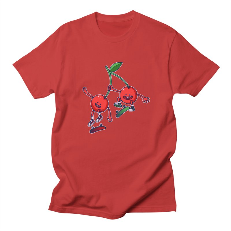 Skater Cherries Women's Unisex T-Shirt by ES427's Artist Shop
