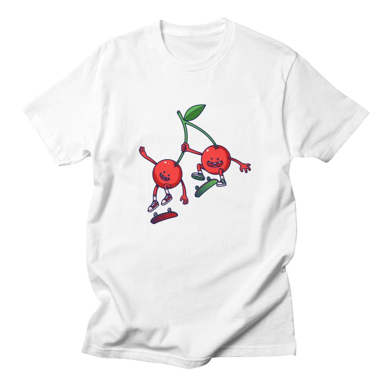 Skater Cherries Women's Unisex T-Shirt by ES427's Artist Shop