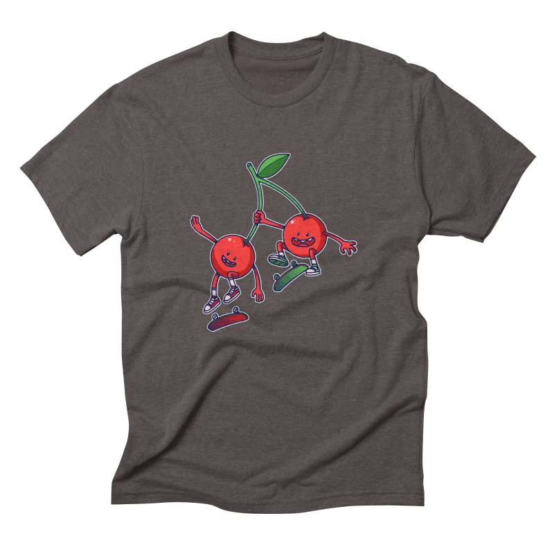 Skater Cherries Men's Triblend T-Shirt by ES427's Artist Shop