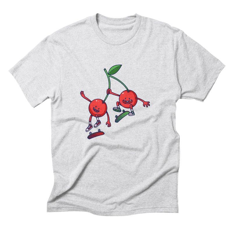 Skater Cherries Men's Triblend T-Shirt by ES427's Artist Shop