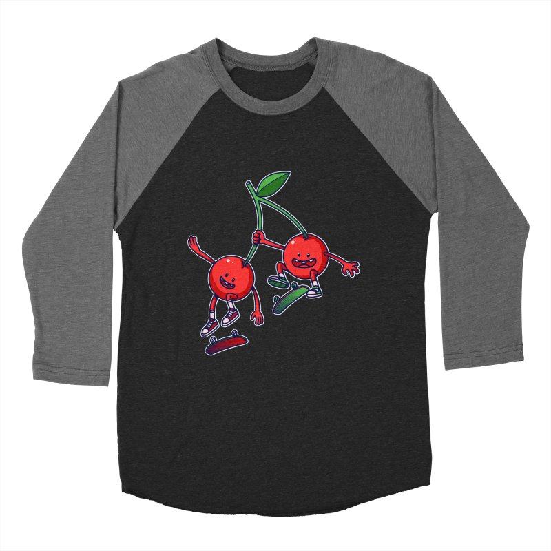 Skater Cherries Women's Baseball Triblend T-Shirt by ES427's Artist Shop
