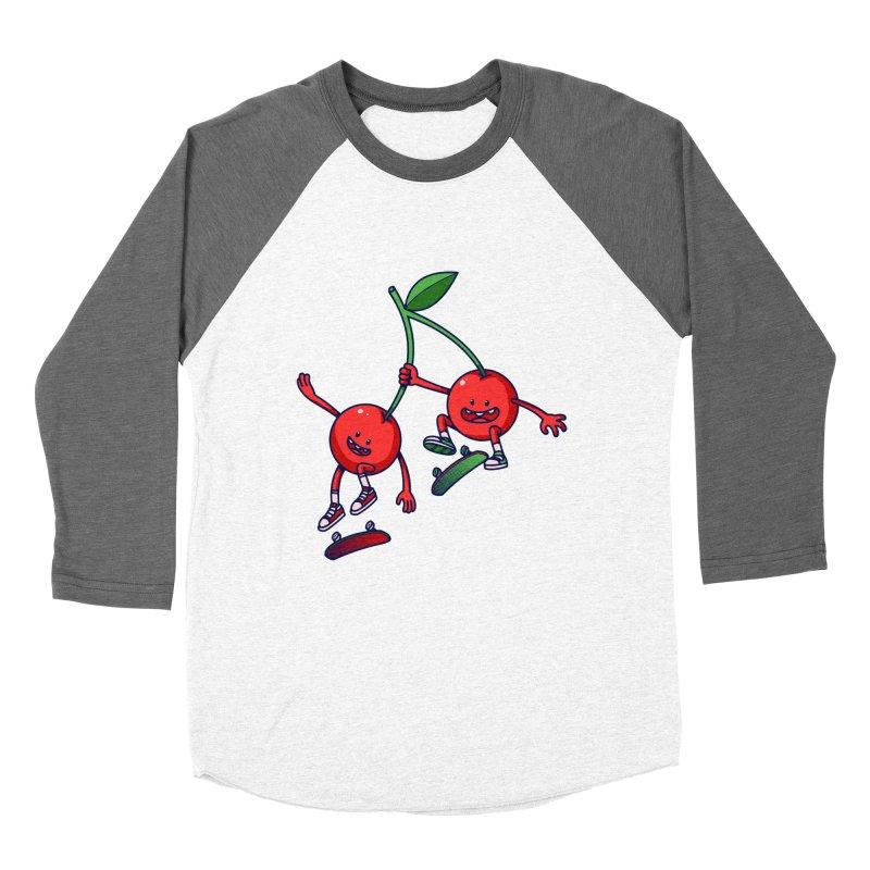 Skater Cherries Men's Baseball Triblend T-Shirt by ES427's Artist Shop