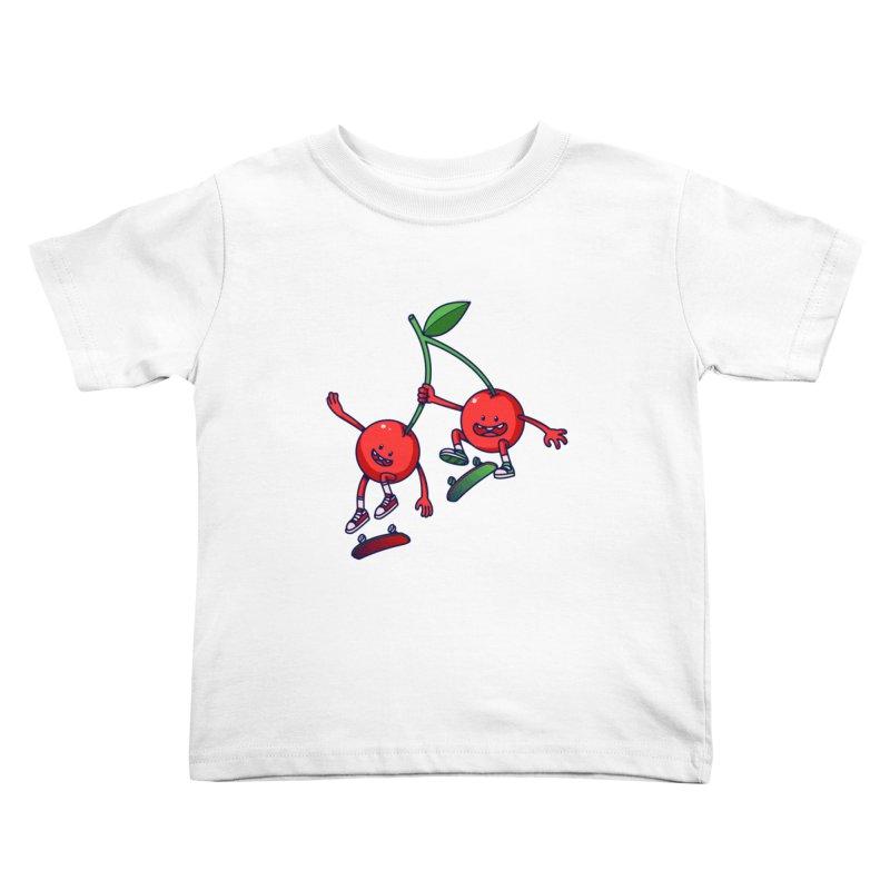 Skater Cherries Kids Toddler T-Shirt by ES427's Artist Shop