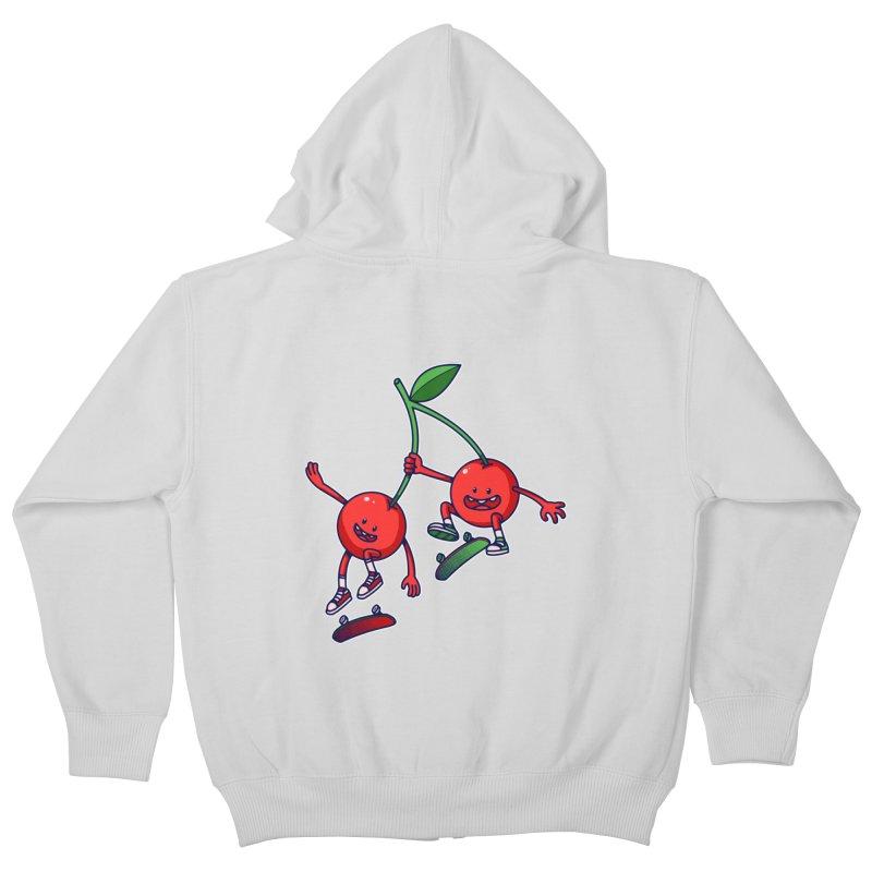 Skater Cherries Kids Zip-Up Hoody by ES427's Artist Shop
