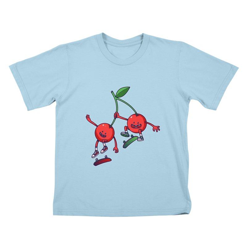 Skater Cherries Kids T-Shirt by ES427's Artist Shop