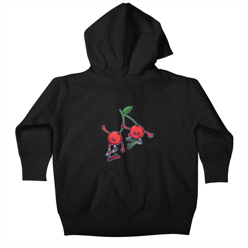 Skater Cherries Kids Baby Zip-Up Hoody by ES427's Artist Shop