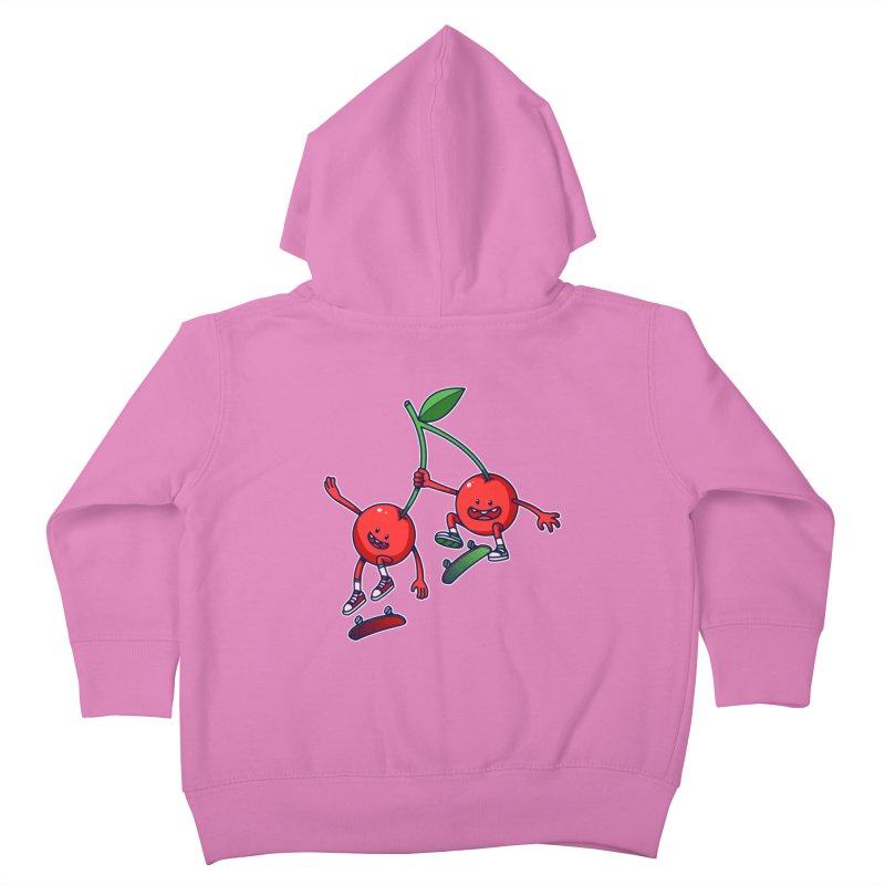 Skater Cherries Kids Toddler Zip-Up Hoody by ES427's Artist Shop