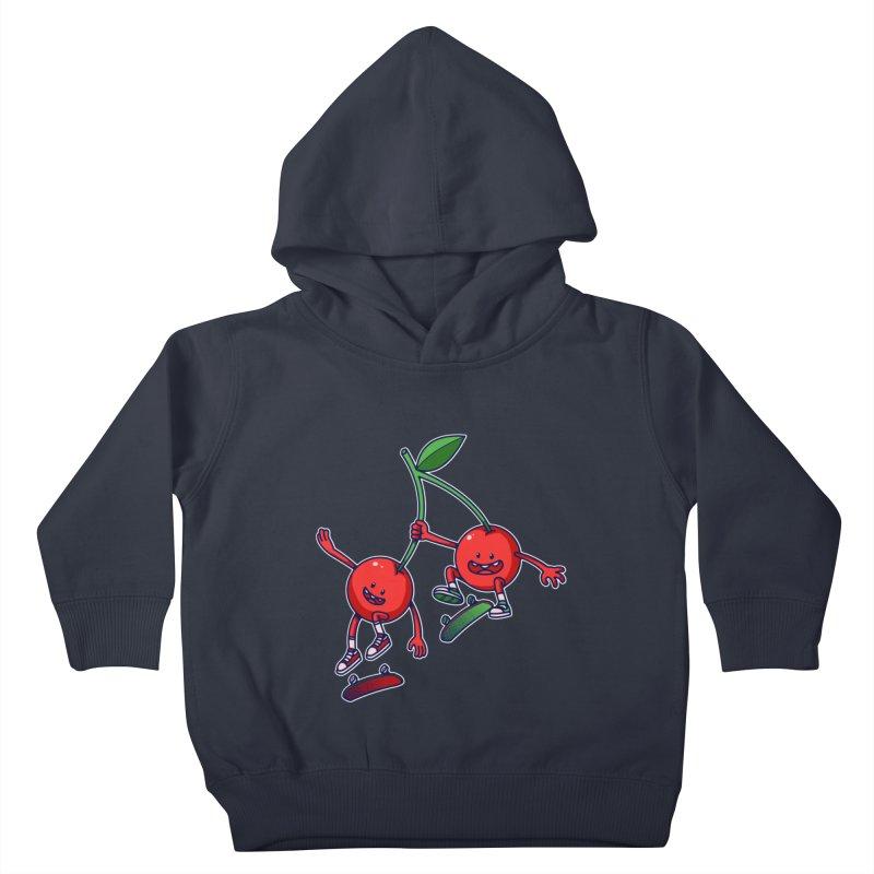Skater Cherries Kids Toddler Pullover Hoody by ES427's Artist Shop