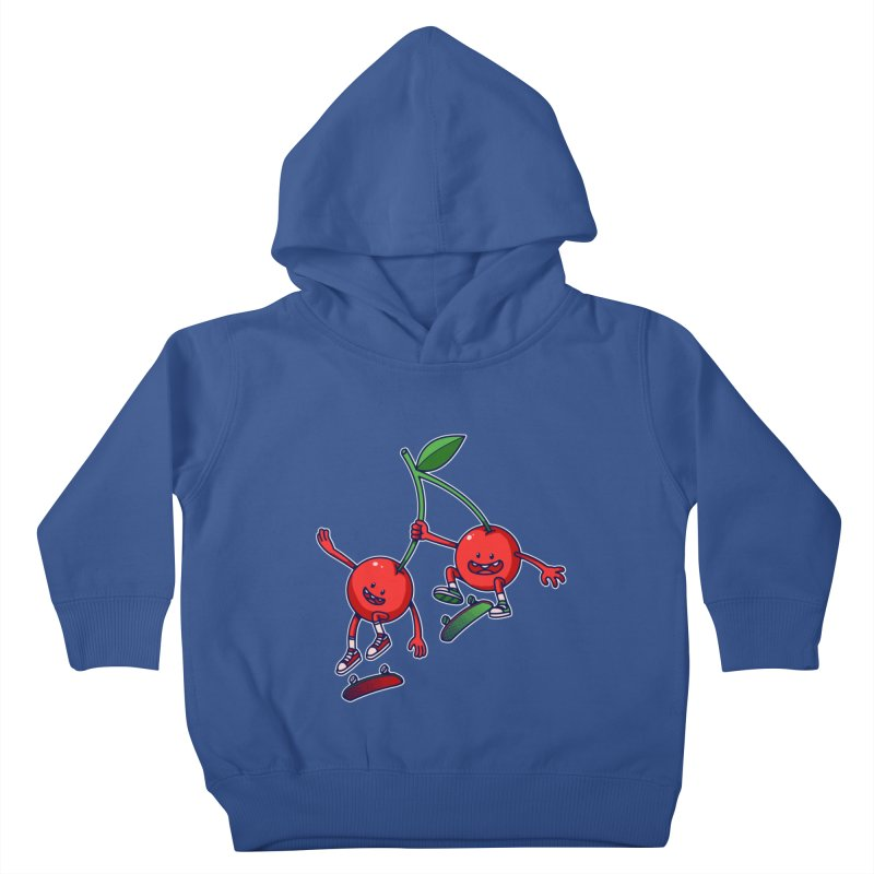 Skater Cherries Kids Toddler Pullover Hoody by ES427's Artist Shop