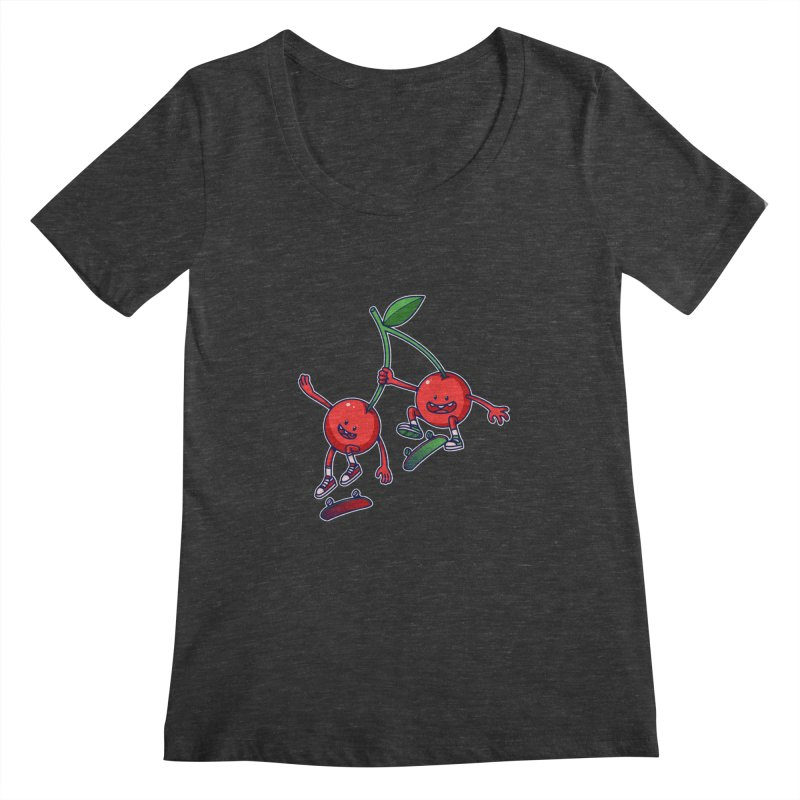 Skater Cherries Women's Scoopneck by ES427's Artist Shop