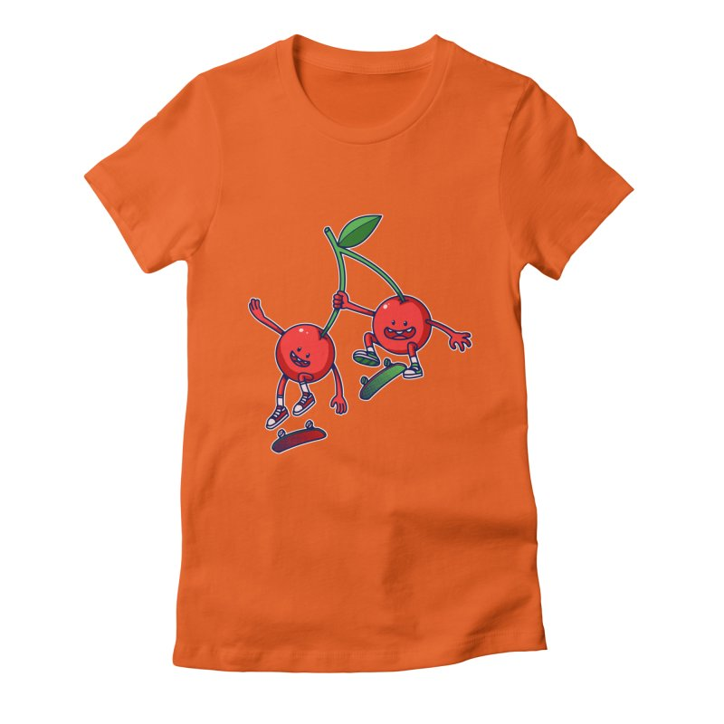 Skater Cherries Women's Fitted T-Shirt by ES427's Artist Shop