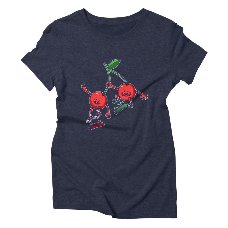 Skater Cherries Women's Triblend T-shirt by ES427's Artist Shop