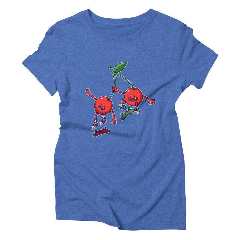 Skater Cherries Women's Triblend T-Shirt by ES427's Artist Shop