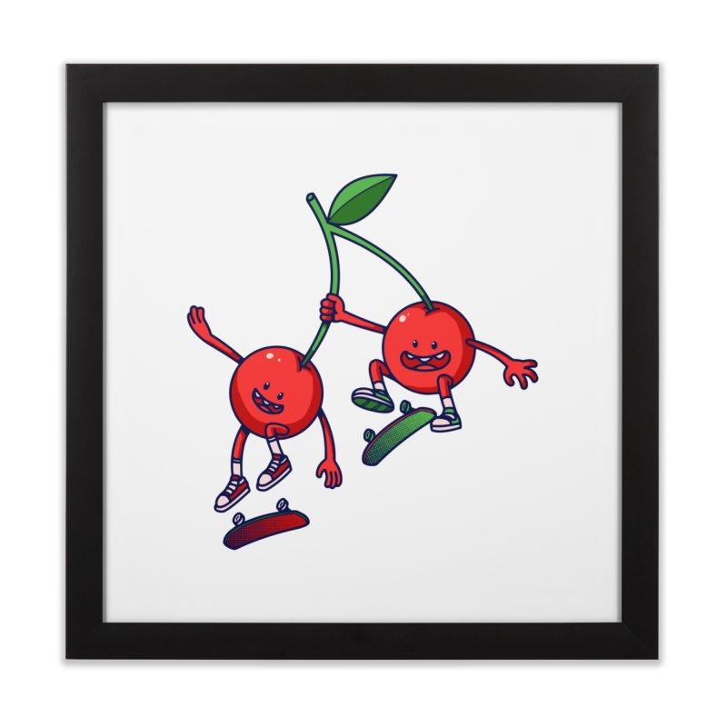 Skater Cherries Home Framed Fine Art Print by ES427's Artist Shop