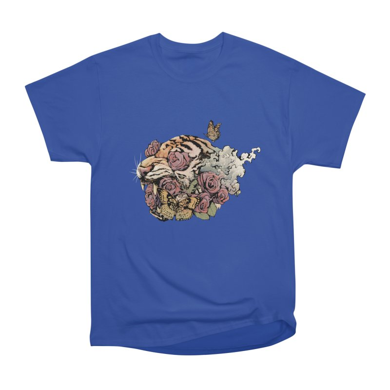 Tiger and Roses Men's Classic T-Shirt by ES427's Artist Shop