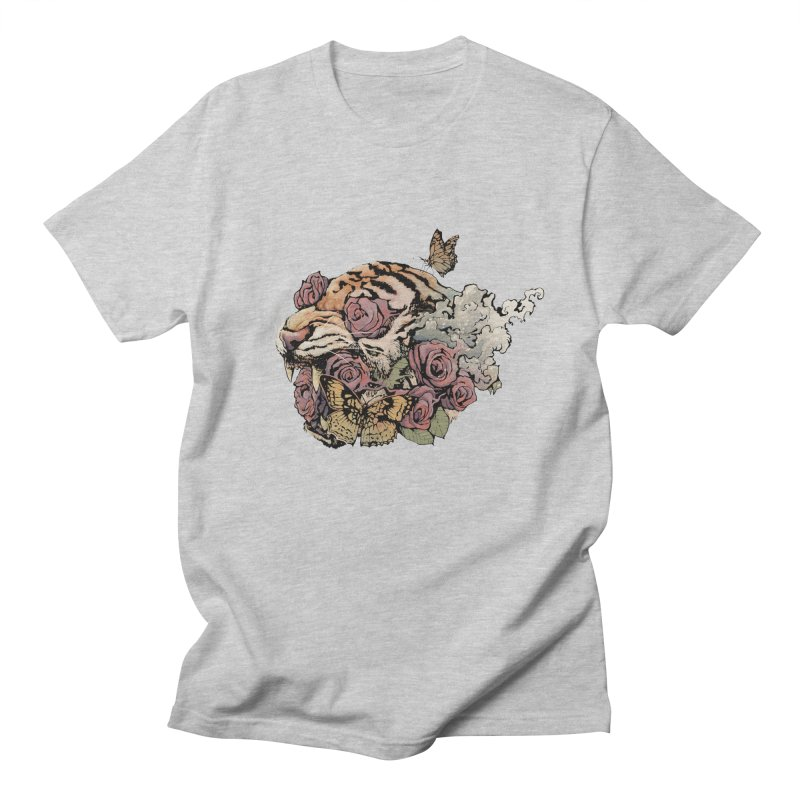 Tiger and Roses Women's Unisex T-Shirt by ES427's Artist Shop