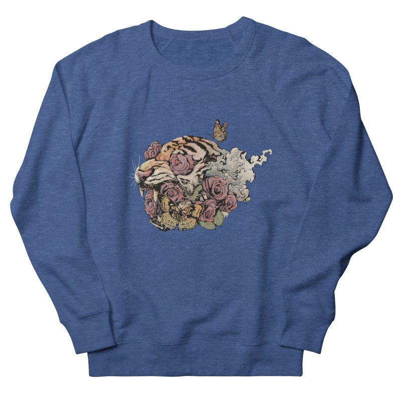 Tiger and Roses Women's Sweatshirt by ES427's Artist Shop