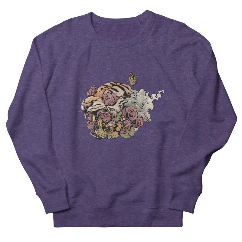 Tiger and Roses Men's Sweatshirt by ES427's Artist Shop