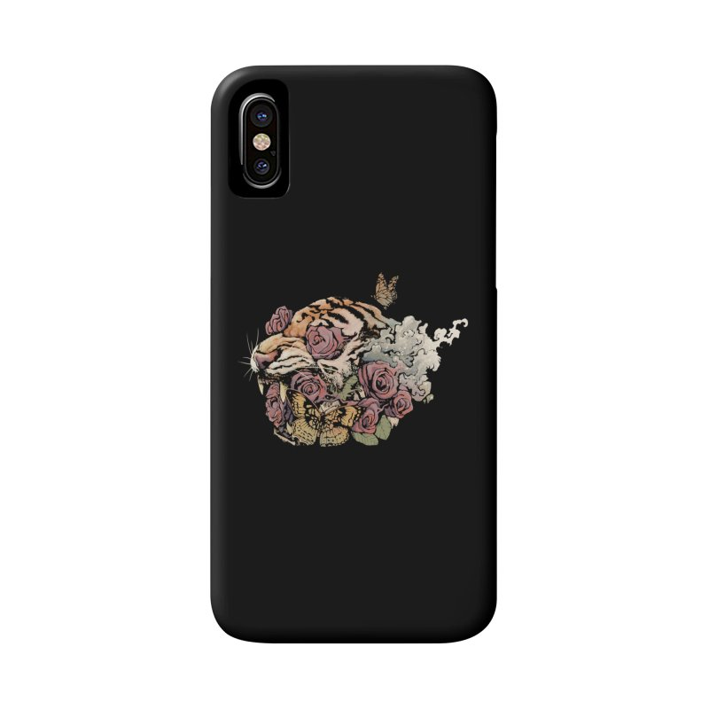 Tiger and Roses Accessories Phone Case by ES427's Artist Shop