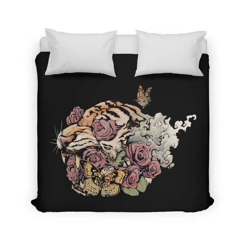 Tiger and Roses Home Duvet by ES427's Artist Shop