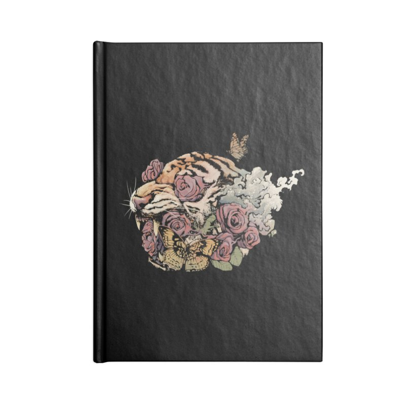 Tiger and Roses Accessories Notebook by ES427's Artist Shop