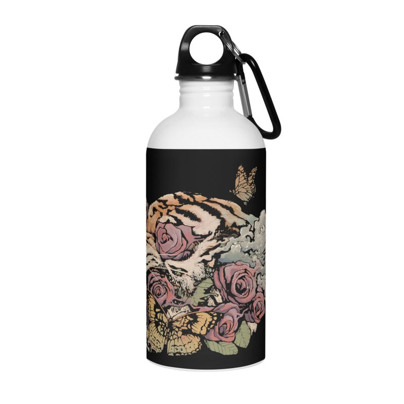 Tiger and Roses Accessories Water Bottle by ES427's Artist Shop