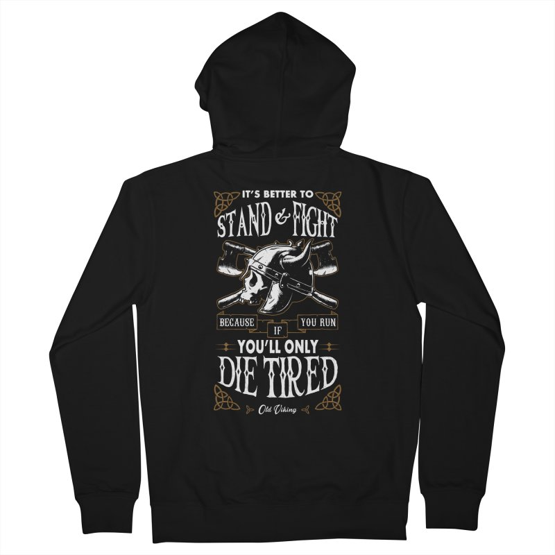 Stand and Fight Men's Zip-Up Hoody by ES427's Artist Shop