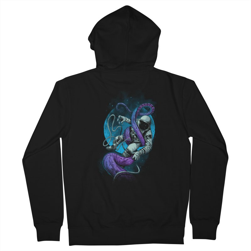 Octopus Attack Women's French Terry Zip-Up Hoody by ES427's Artist Shop