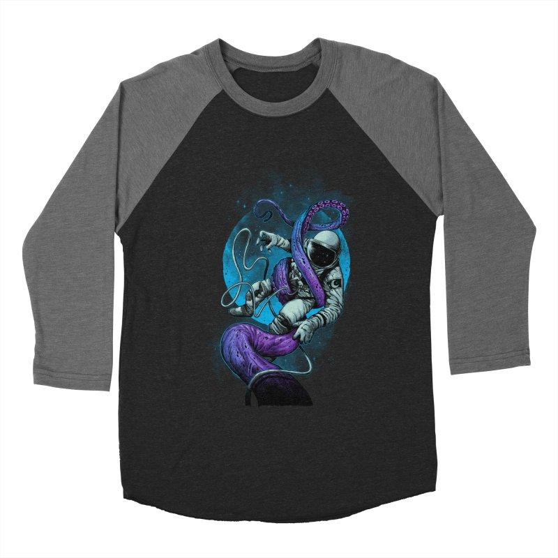 Octopus Attack Women's Baseball Triblend Longsleeve T-Shirt by ES427's Artist Shop