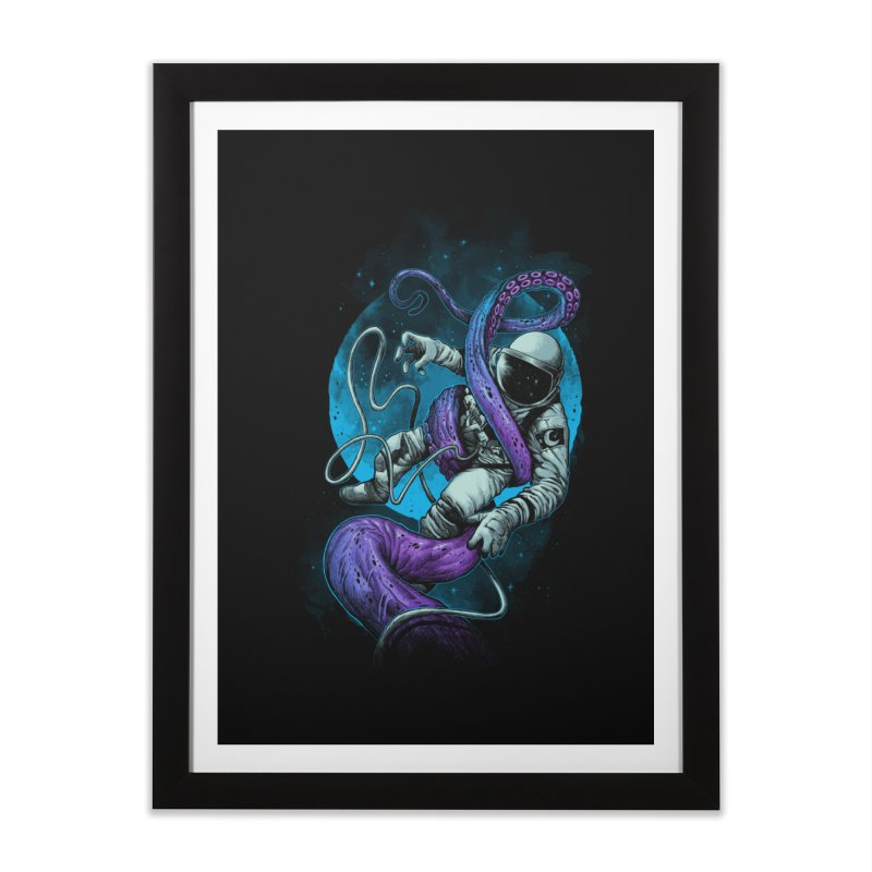 Octopus Attack Home Framed Fine Art Print by ES427's Artist Shop